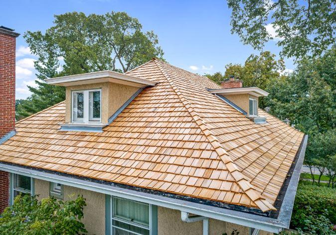 A rare cedar shake roof in Richardson TX